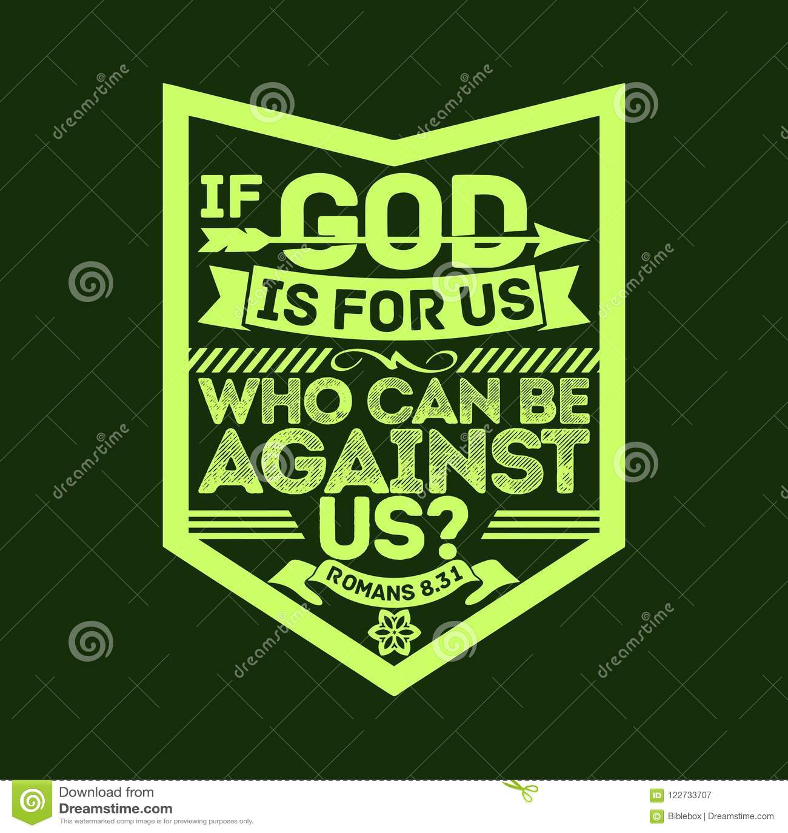 bijbelse illustratie als de god voor ons is die tegen ons
