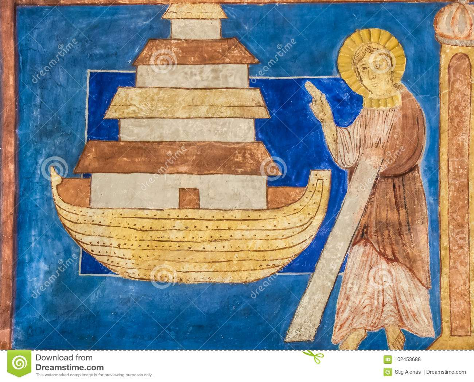 Bijbelse Noah en zijn bak