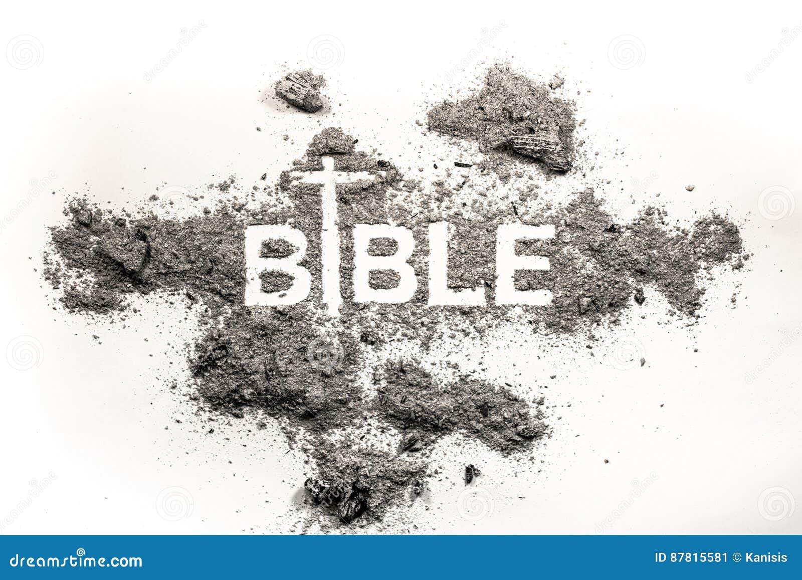 Bijbelwoord In As Stof En Dwarstekening Als Godsdienst A Wordt
