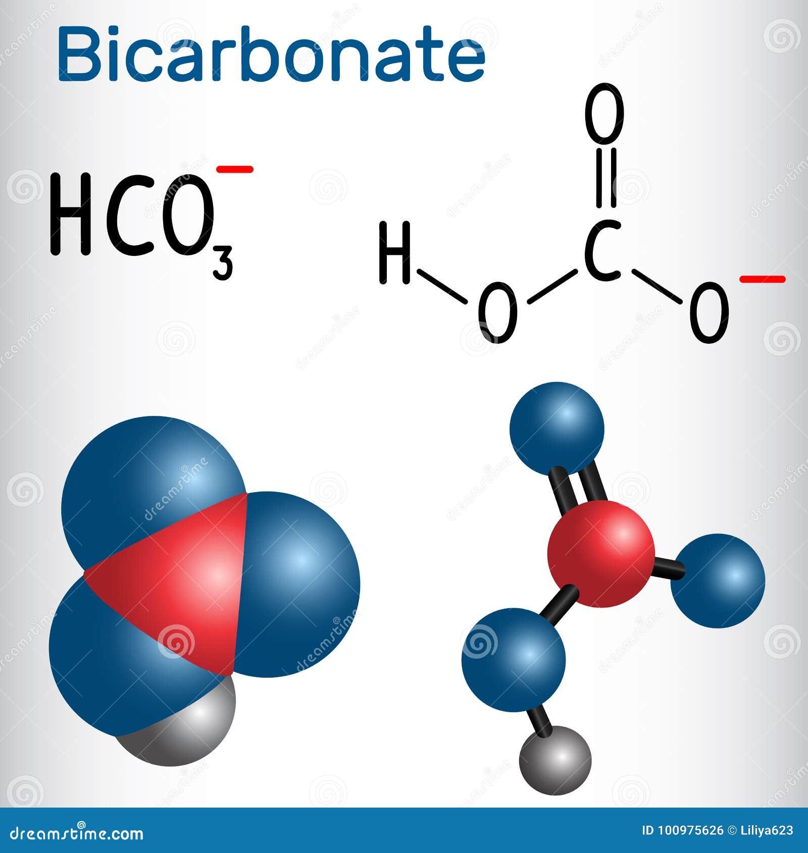 Bikarbonatsanion Hco3 Strukturelle Chemische Formel Und