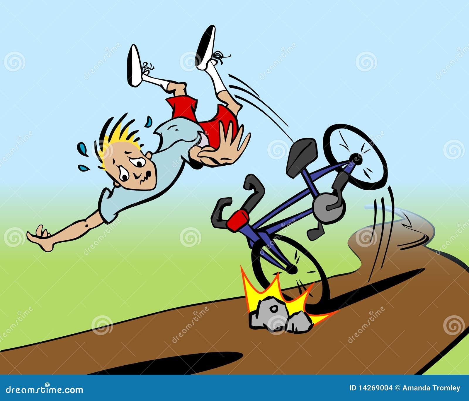 Рисунок как я упал с велосипеда