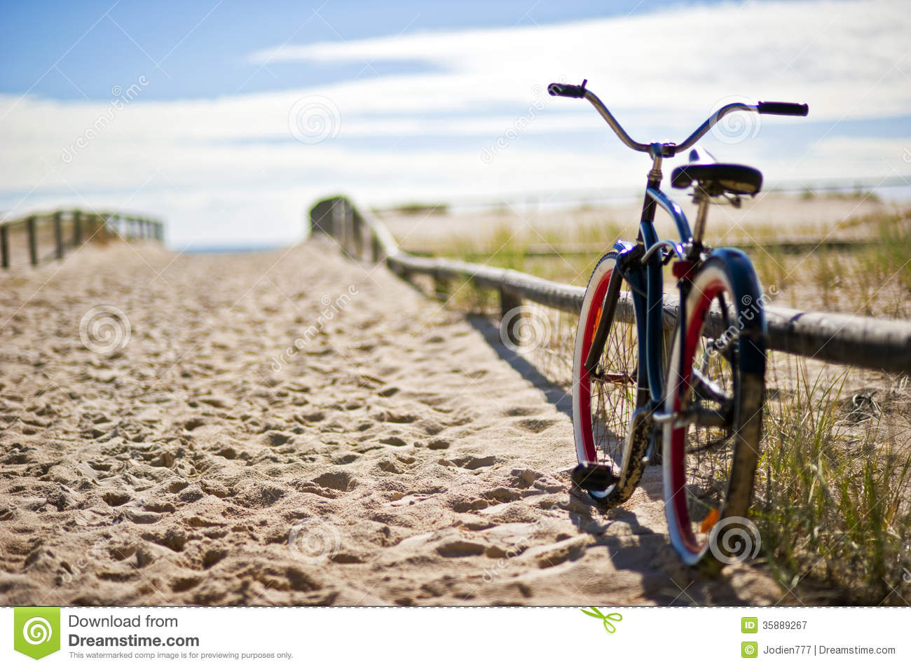 Bike on beach stock image. Image of mode, accessibility ...