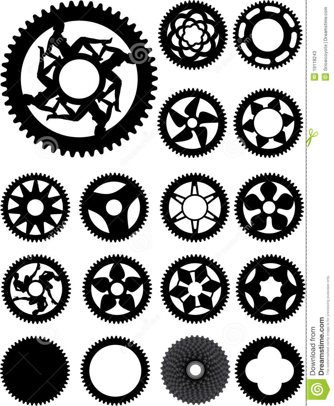 bike cogs stock vector illustration of piece cassette 19118243
