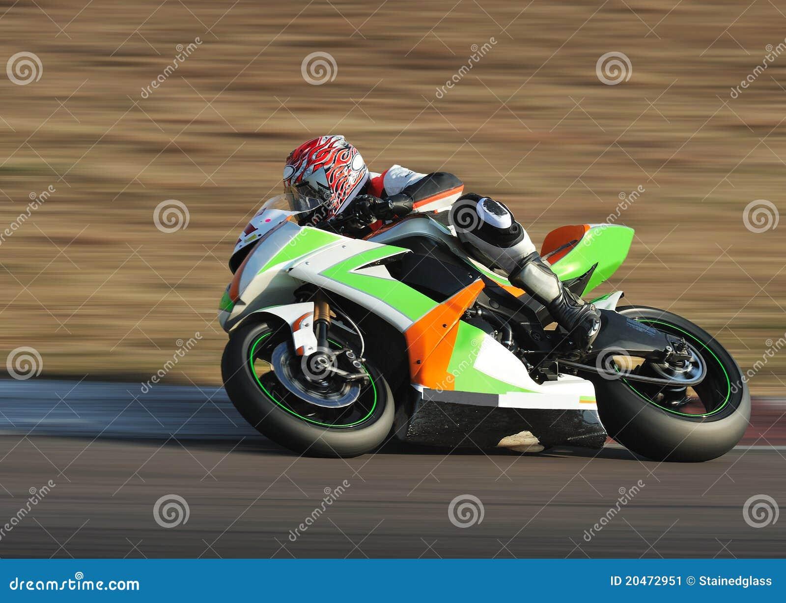 Bike Cornering at Full Speed