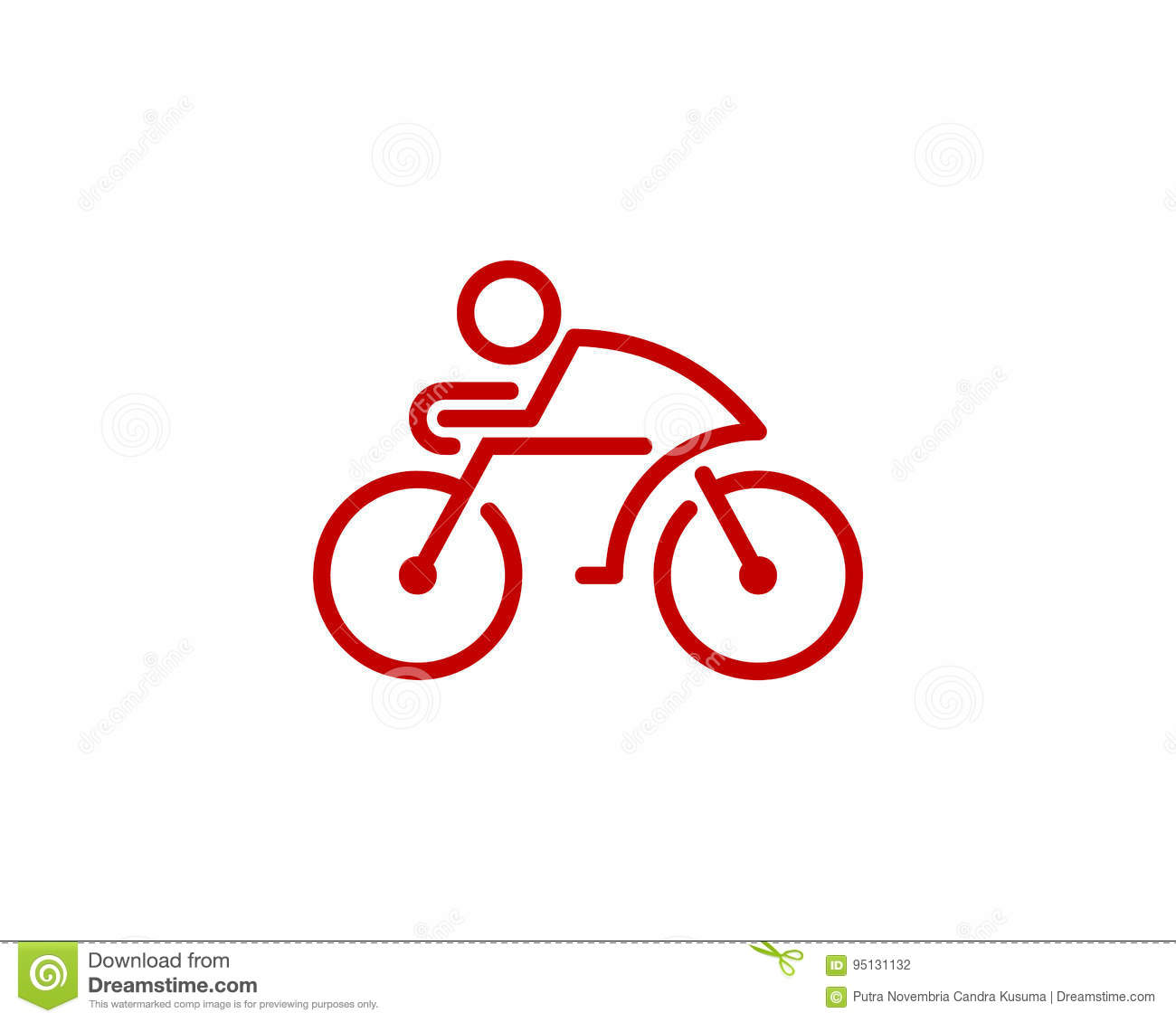 Bike cycle icon logo design element