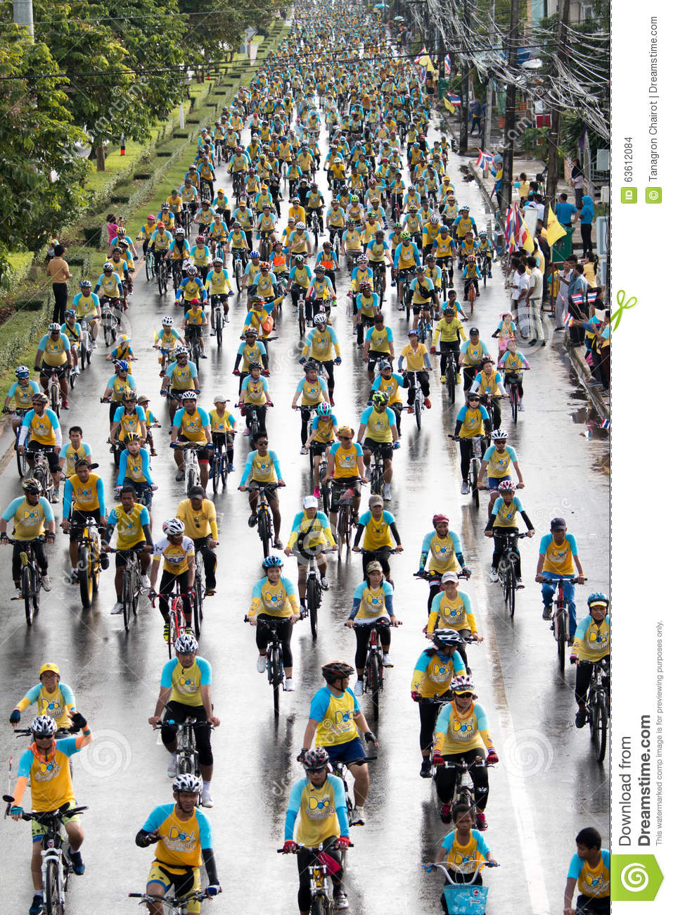 Satun Thailand  city images : SATUN, THAILAND DECEMBER 11, 2015: people cycling together in the ...