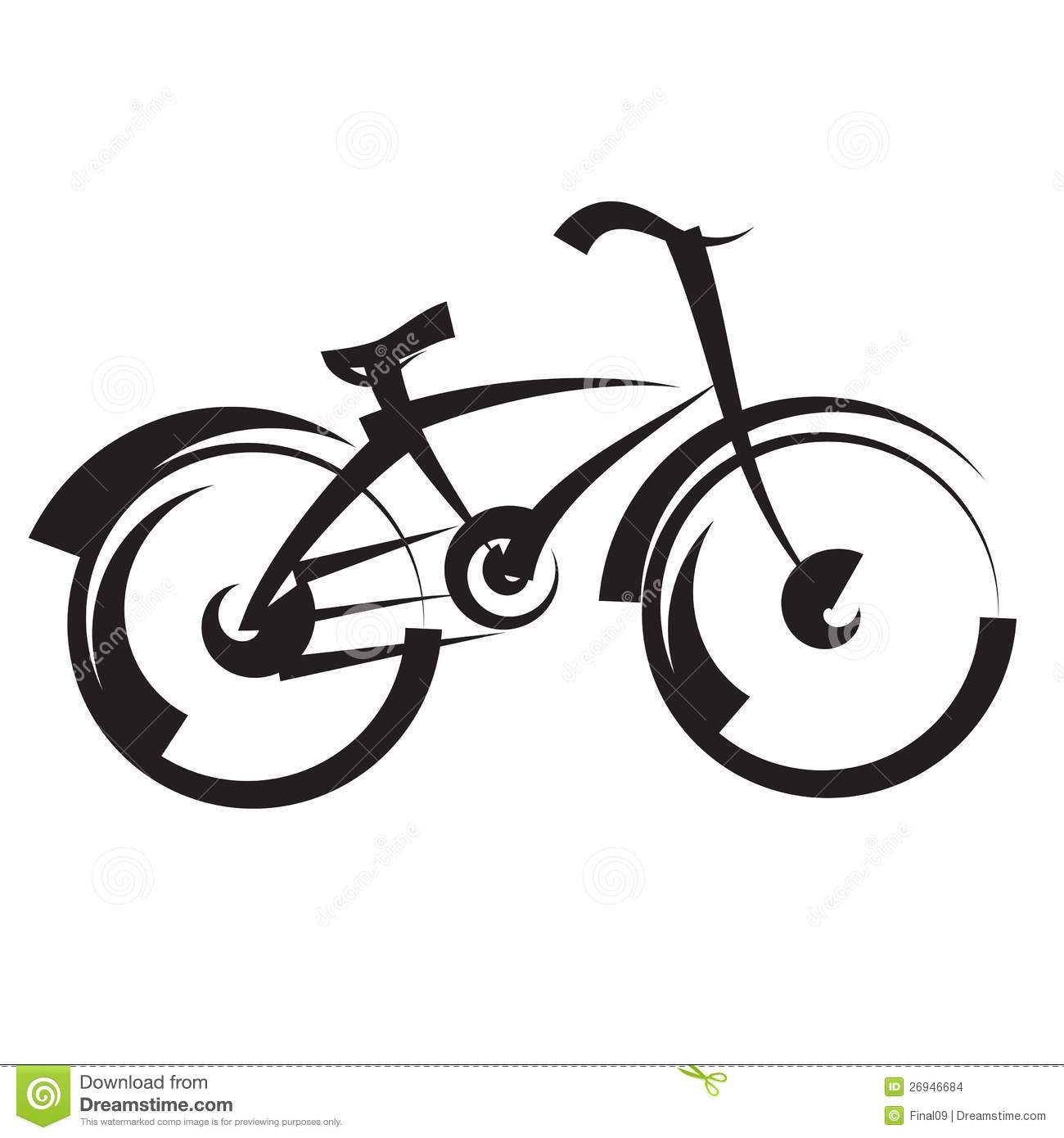 Bike. Freehand Drawing. Black And White Vector Stock ...
