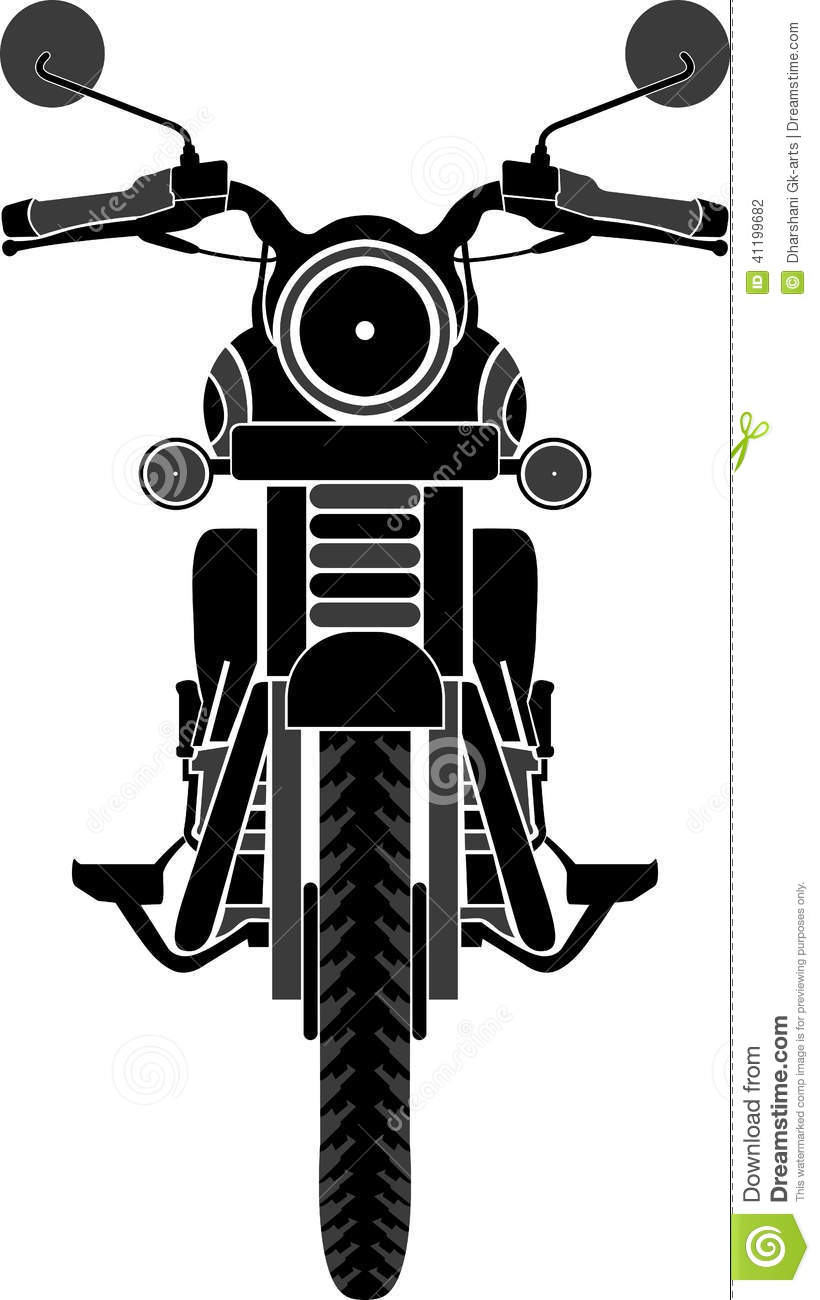 Bike Front View Stock Vector - Image: 41199682