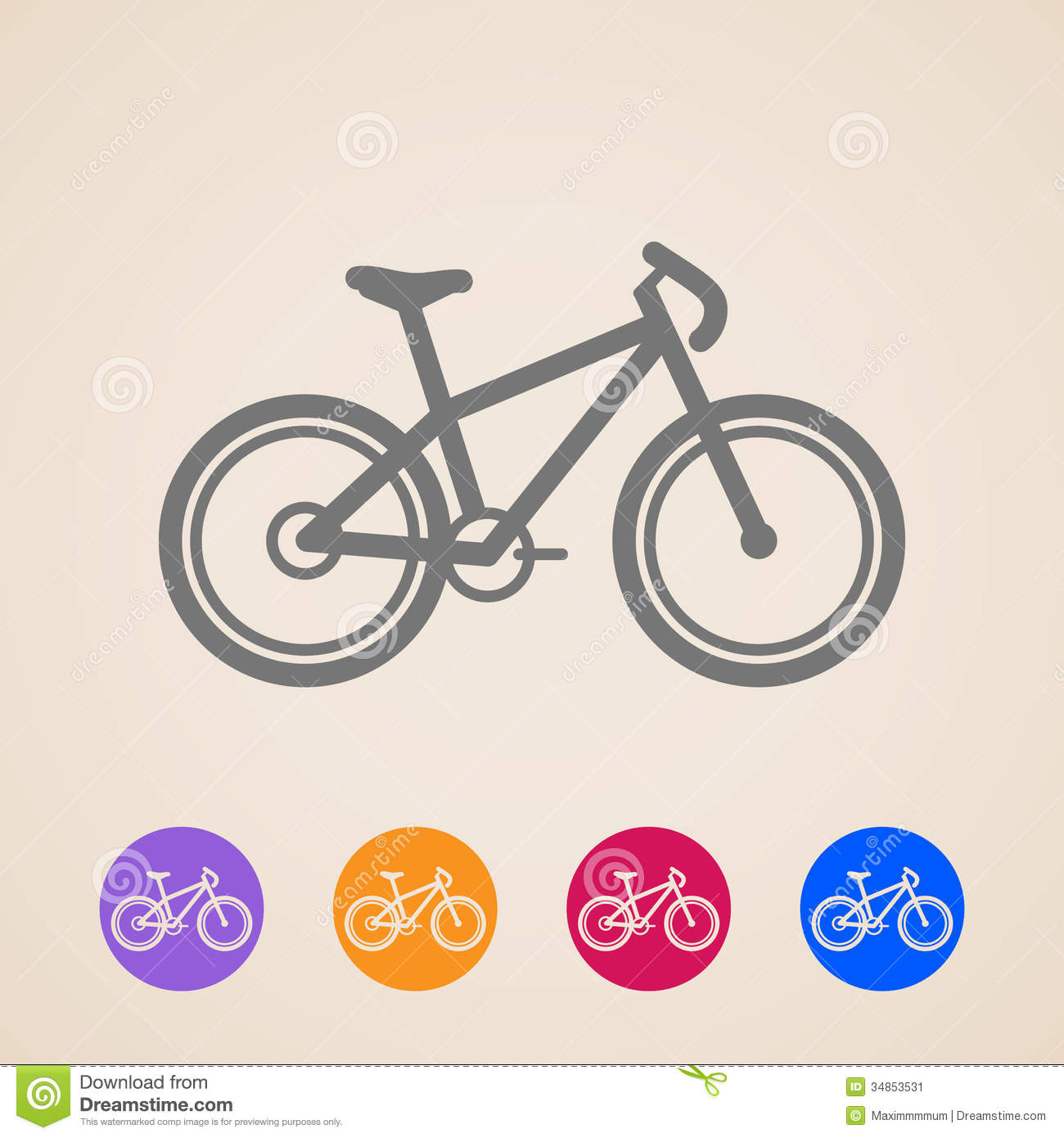 Simple bicycle illustration - photo#21