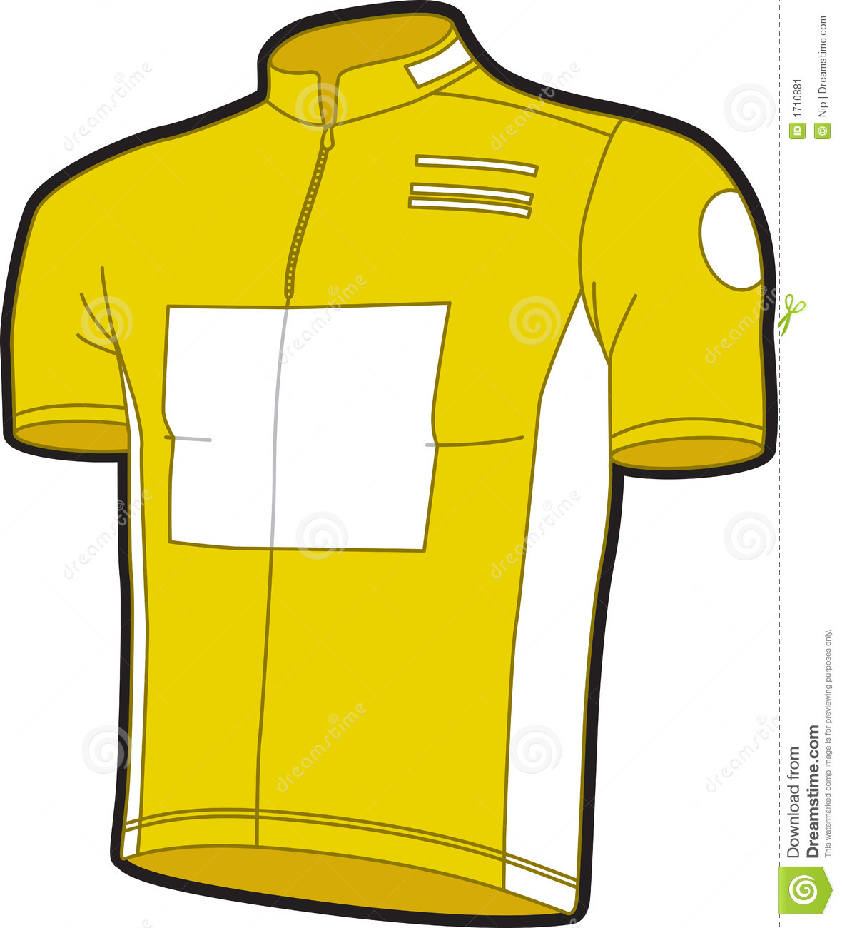 Bike jersey stock vector. Illustration of cycling yellow - 1710881