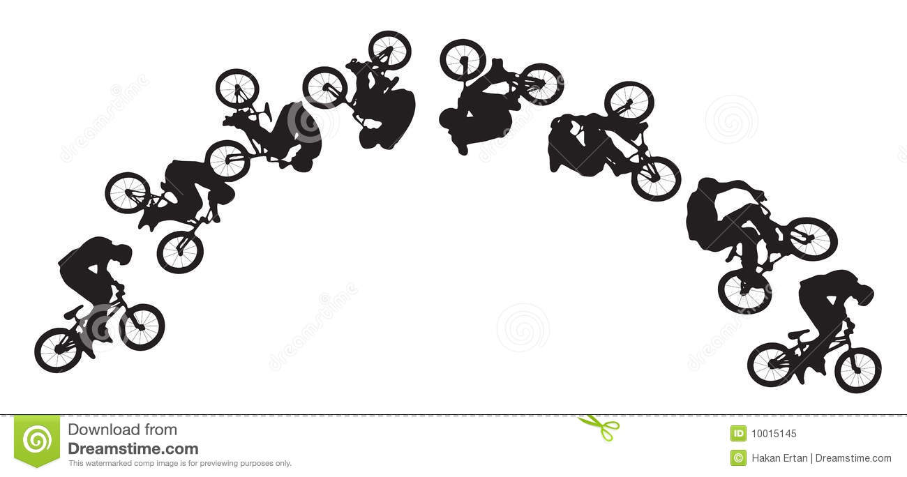 Bike Jumping Sequence Royalty Free Stock Photo - Image: 10015145