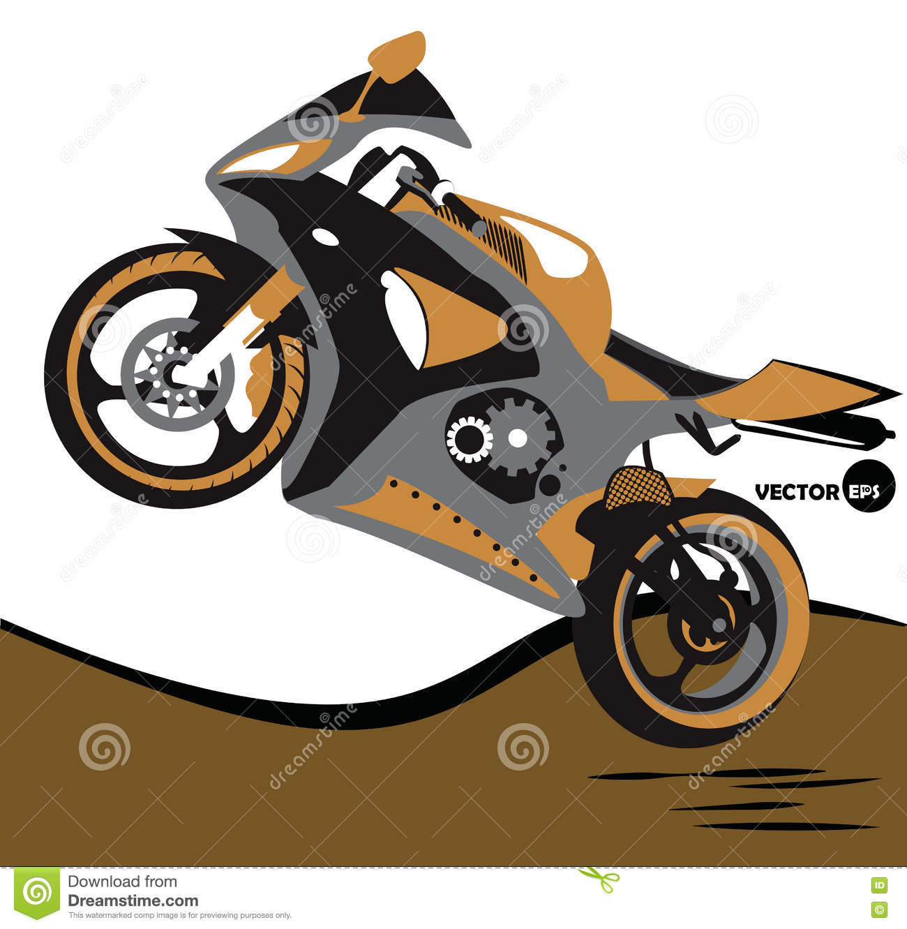 Bike, Jumps On The Motorcycle And Extreme Sports  Sportbike