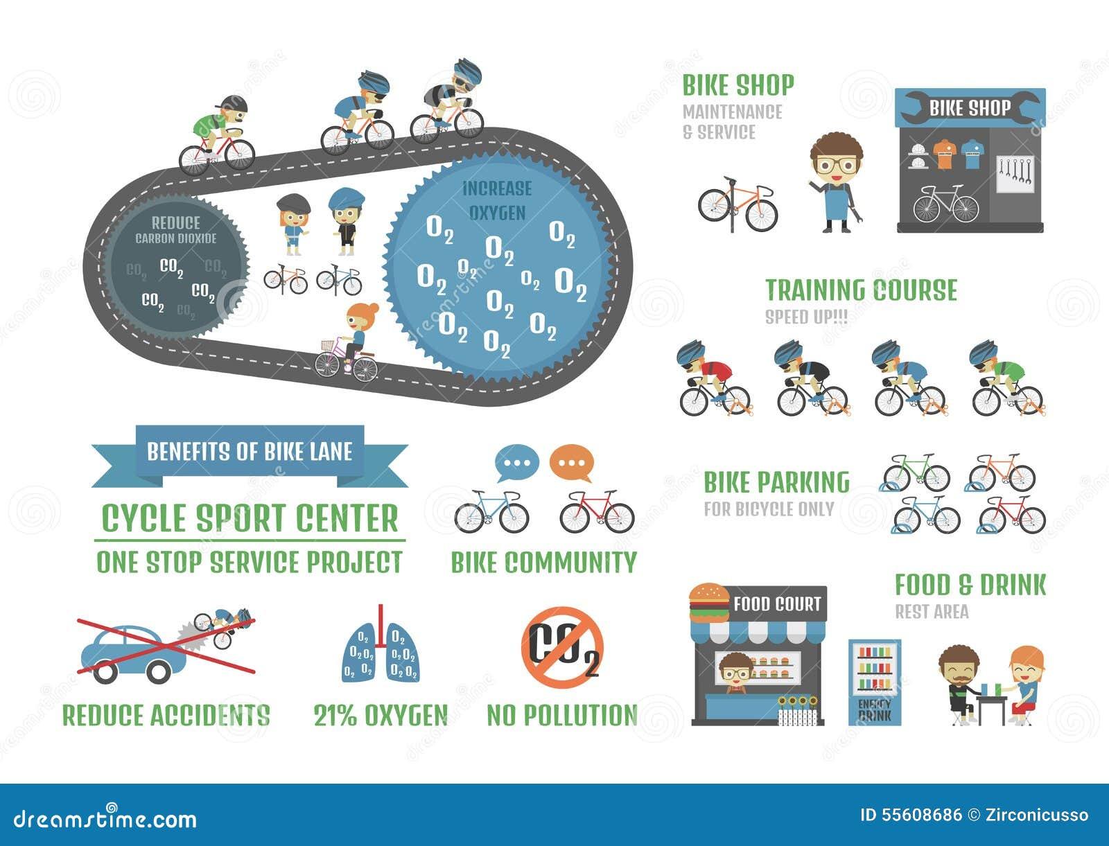 Bike lane stock vector  Illustration of dioxide, drink - 55608686