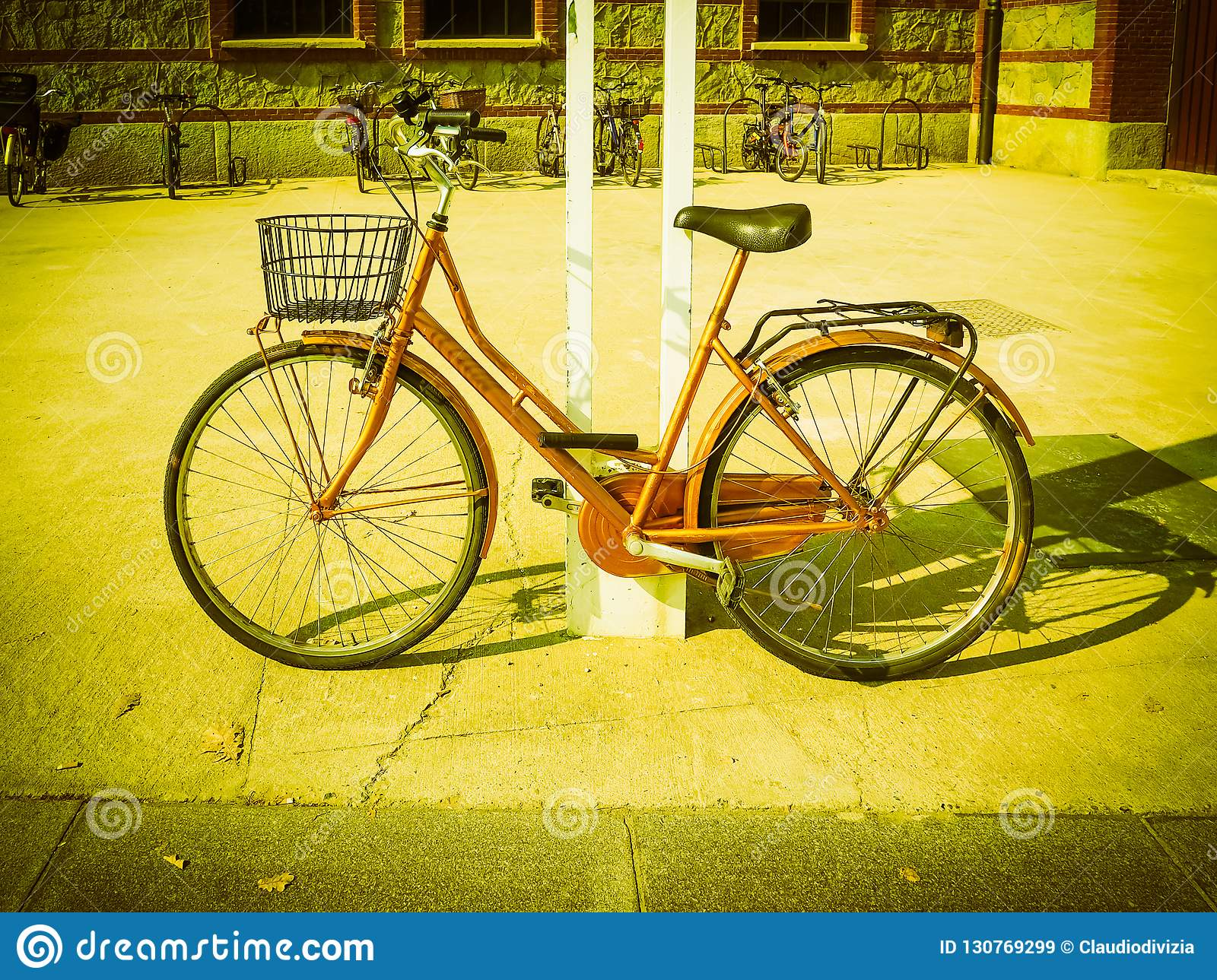 Bike Parked Outdoor Vintage Retro Stock Image - Image of