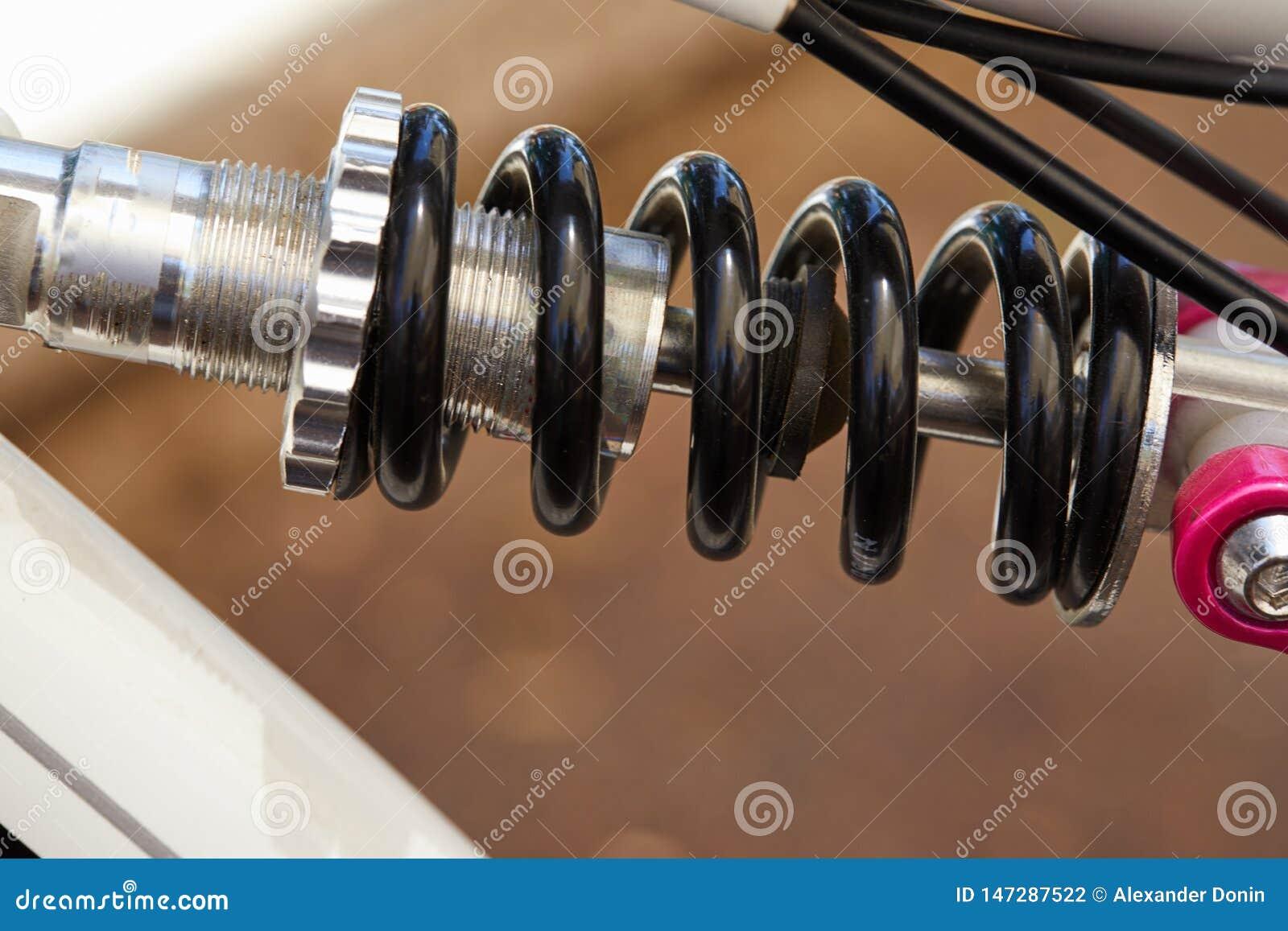 Bike parts frame and spring fragment
