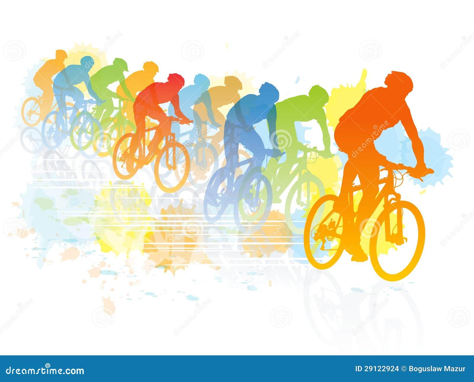 Bike race stock vector. Illustration of leisure, action ...