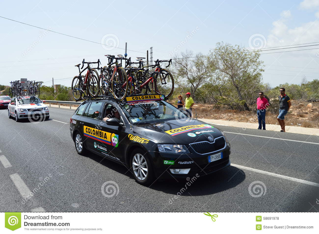Bike Racing Team Colombia Car Editorial Stock Photo Image 58691978