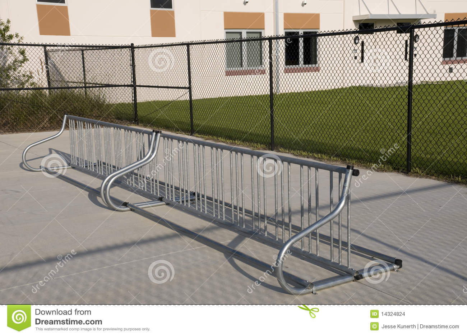 Bike Rack At Elementary School Stock Images Image 14324824
