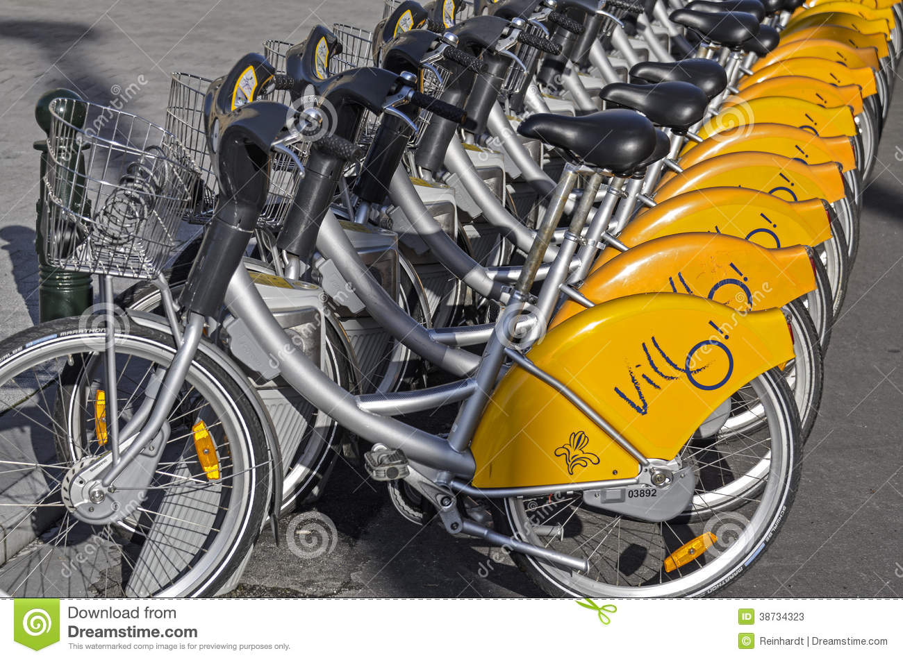 Bike Rental In Brussels Editorial Stock Photo Image Of