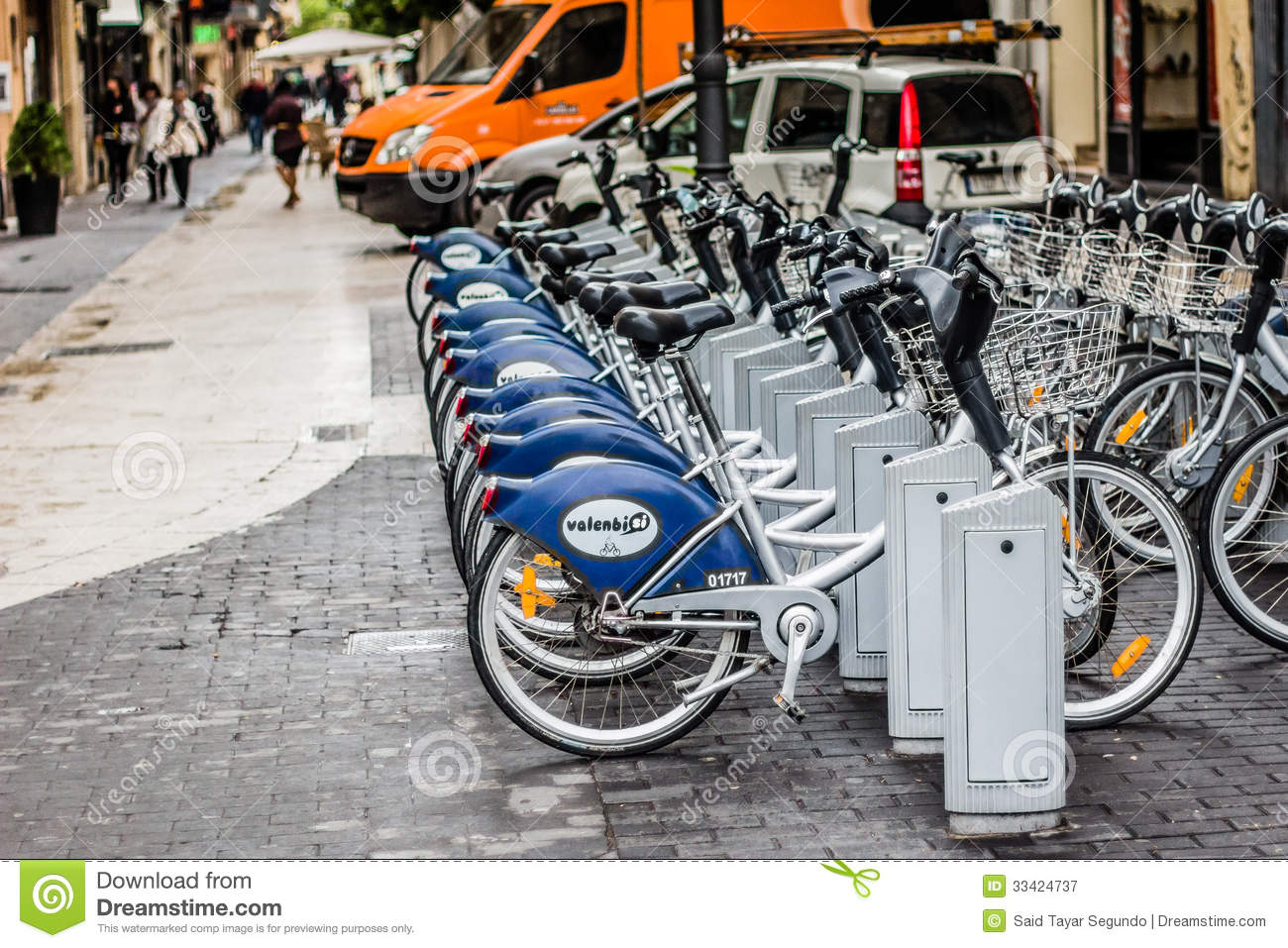 Rental Bicycles In Valencia Spain Editorial Photography
