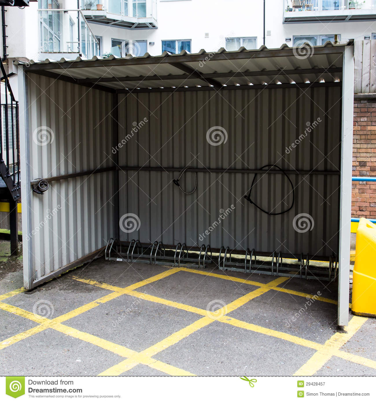 Metal Bicycle Shelters : Bike shelter royalty free stock photography image