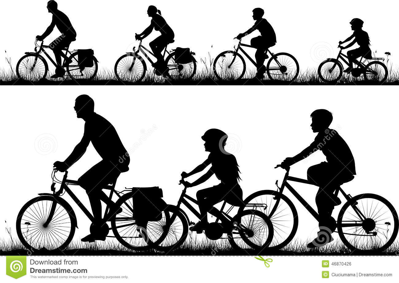 Bike - silhouette stock vector. Illustration of silhouette - 46870426 for Bicycle Clipart Black And White  66pct