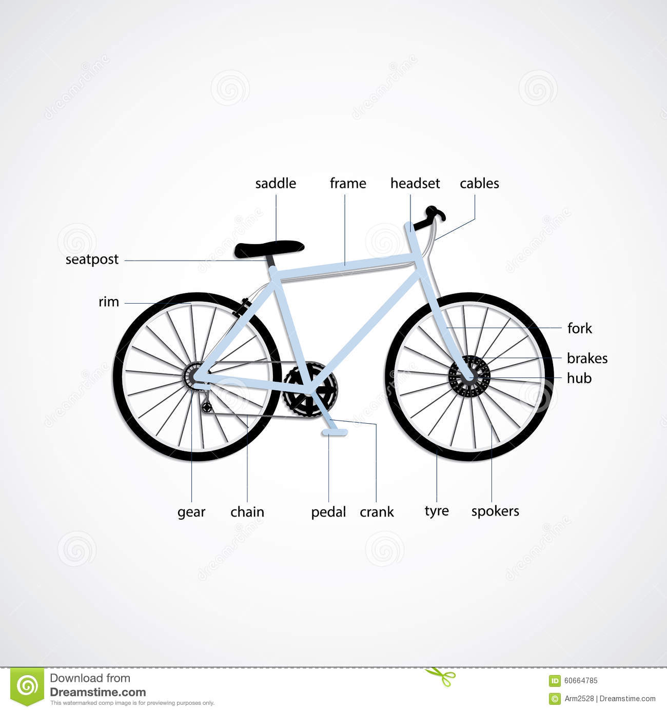 Simple bicycle illustration - photo#39
