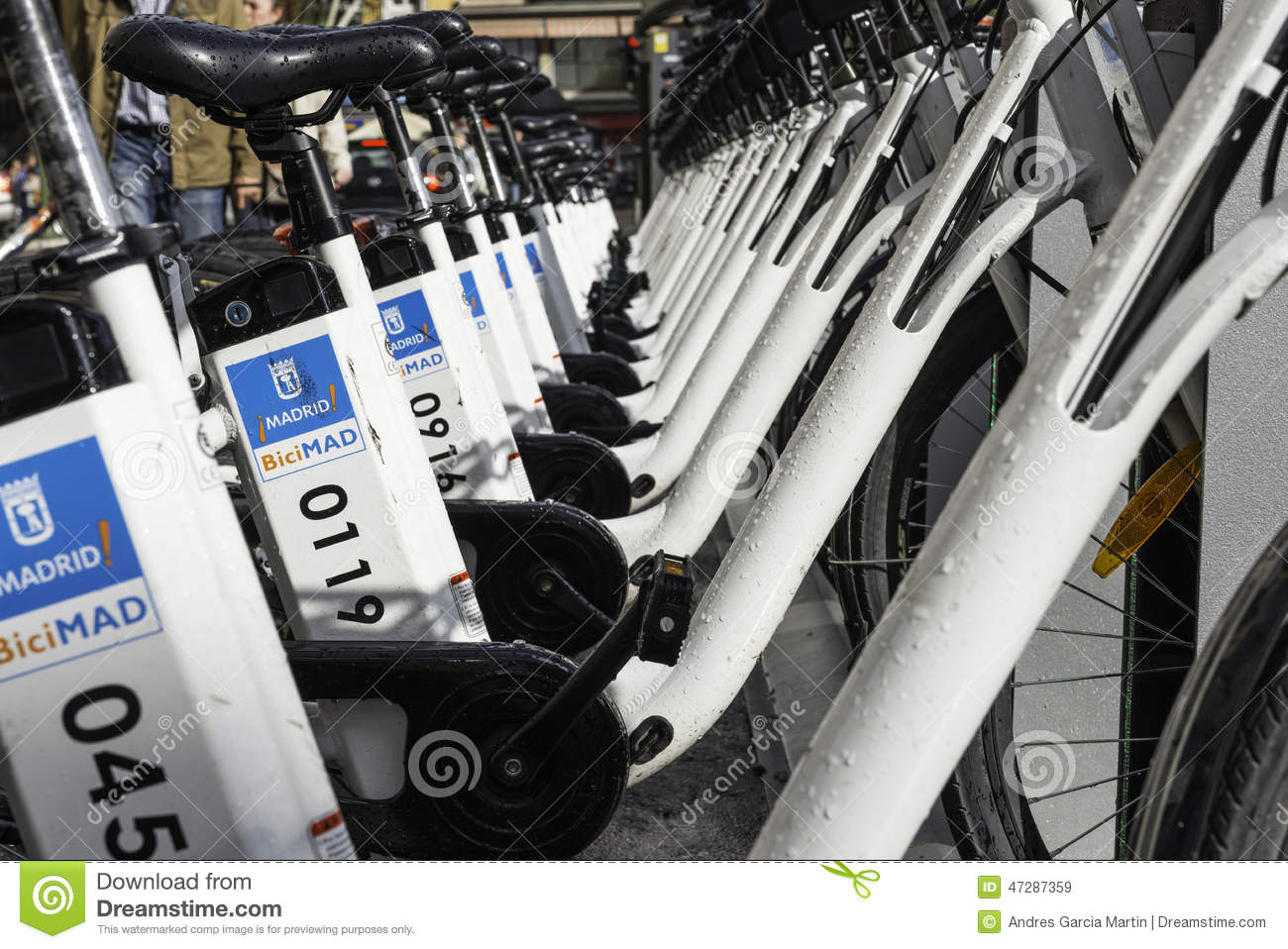 Bike Station, Madrid Editorial Stock Image