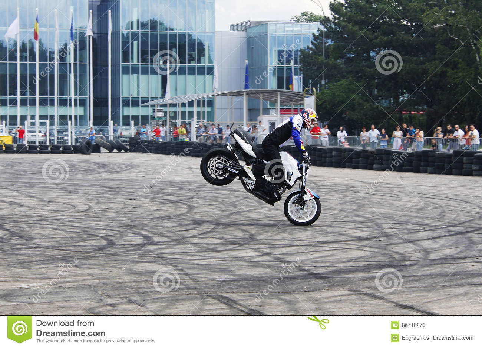 Bike stoppie motorcycle stunt rider acrobatics