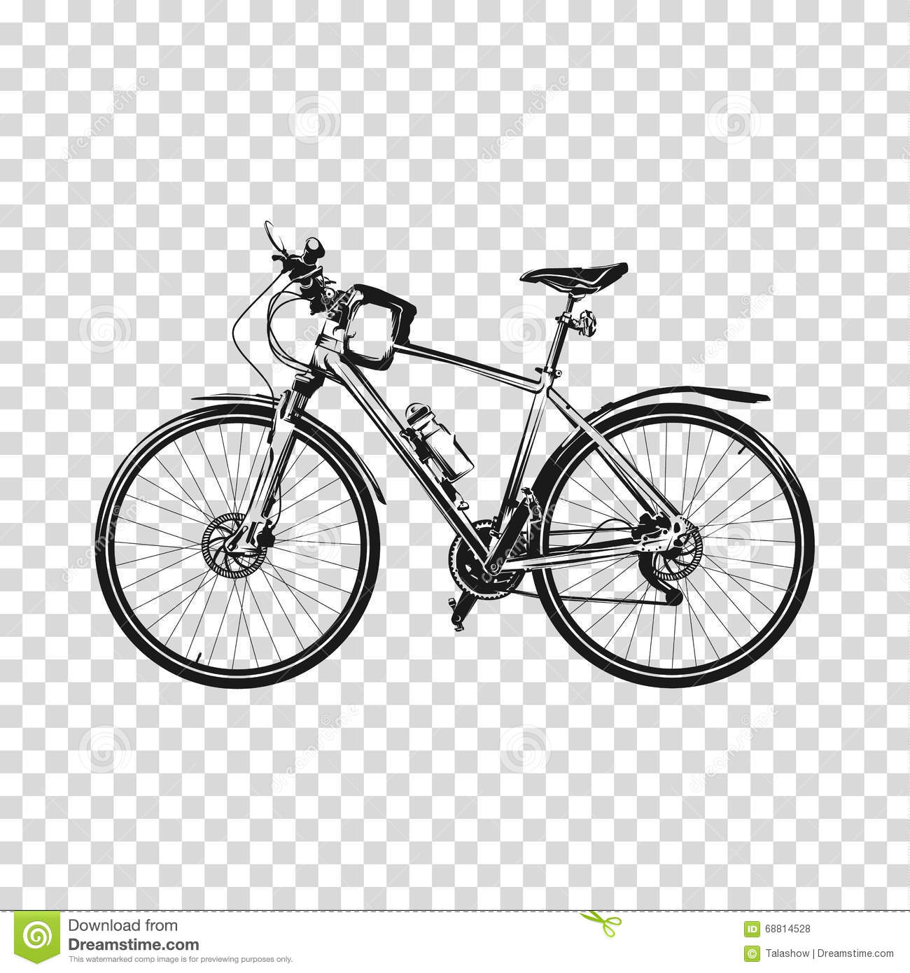 Bike a transparent background. Bicycle silhouette illustration vector ...