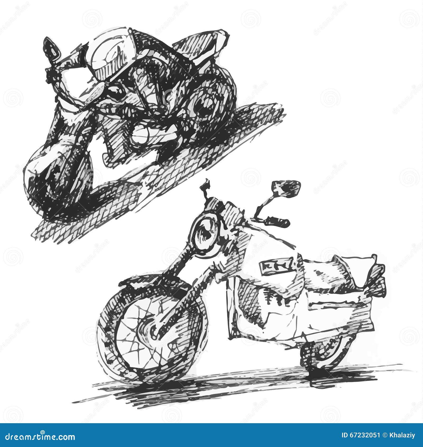 Bike stock vector illustration of bike pencil sketch 67232051