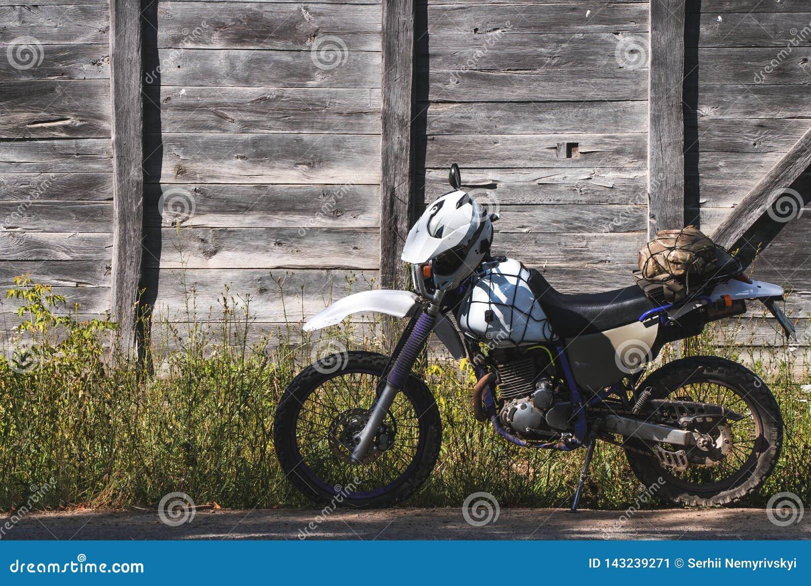 Bike vintage background wooden off road retro enduro