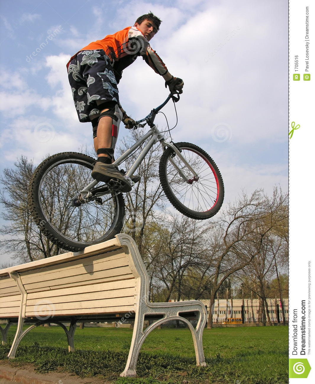 Download Biker on bench stock photo. Image of movement, path, cyclist - 1705516