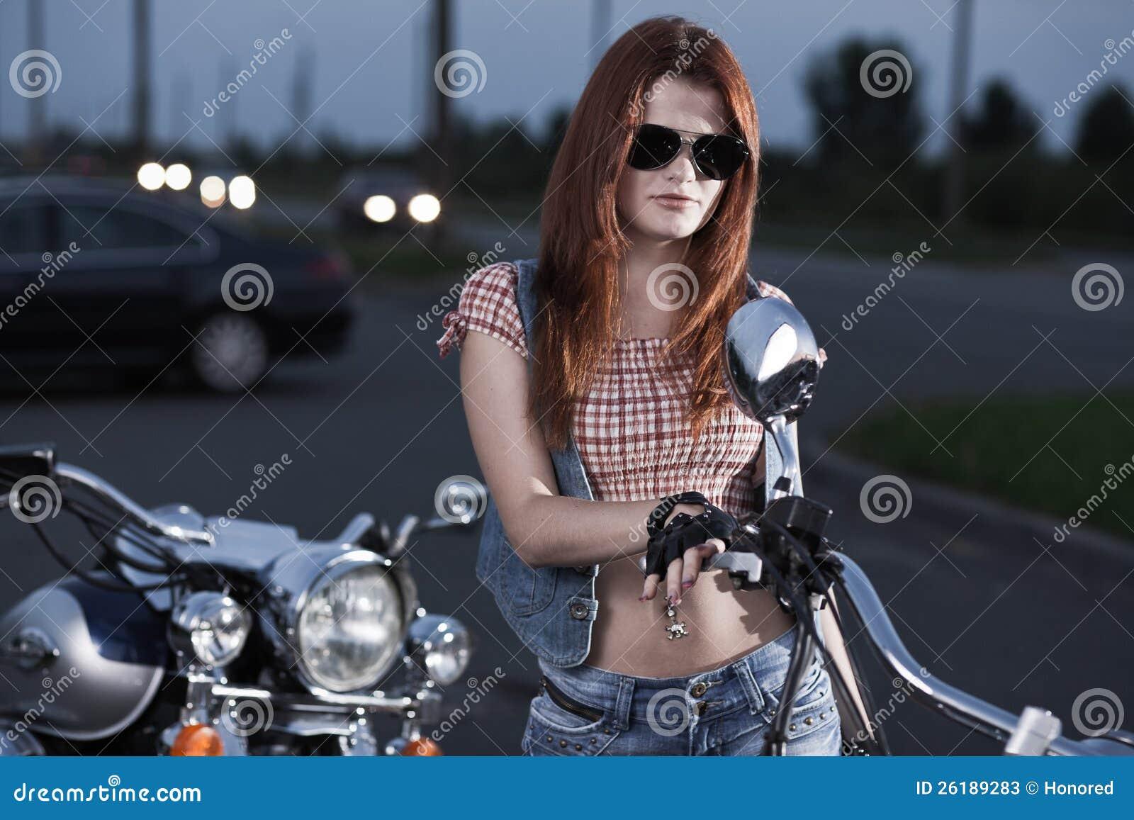 biker chicks Redhead