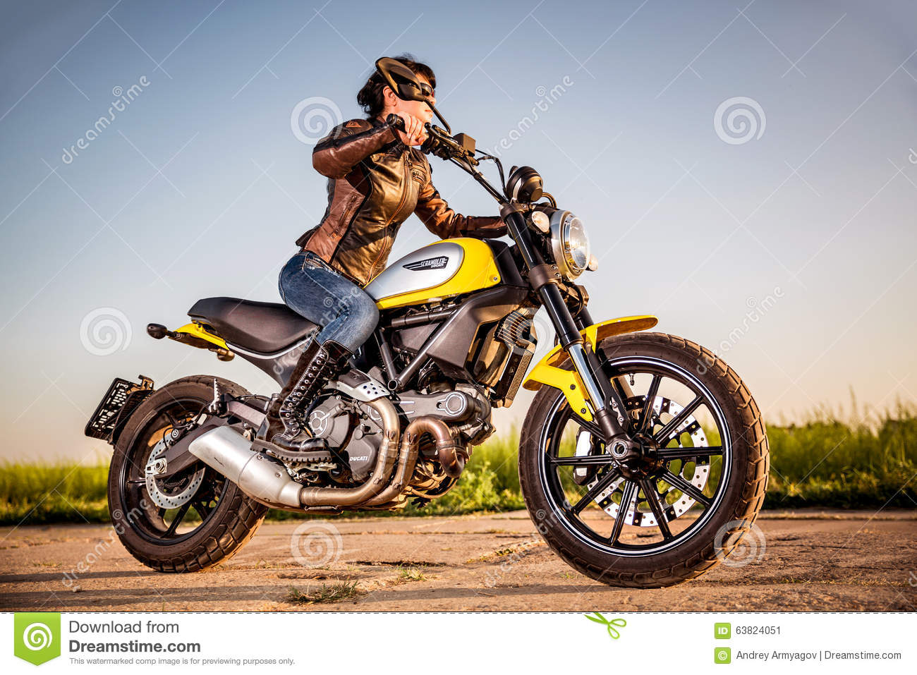 Biker Girl On A Motorcycle Editorial Photo Image Of Ducati 63824051