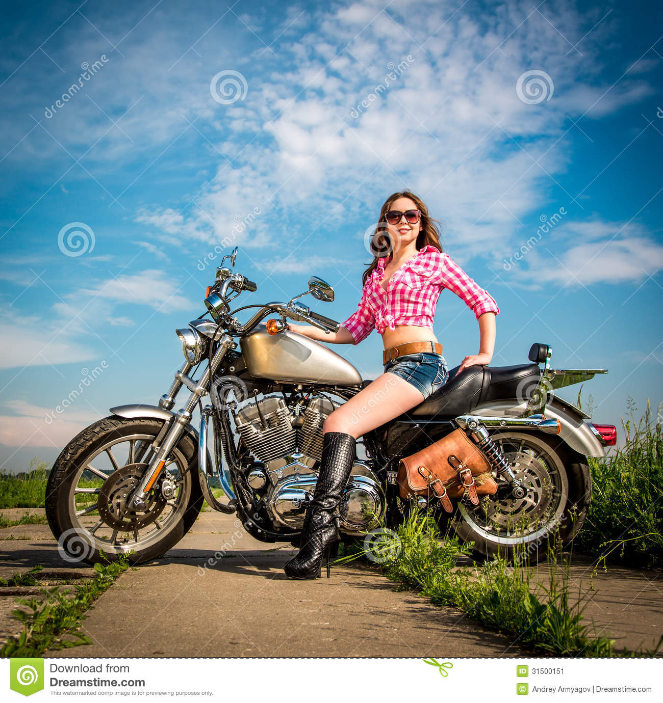 Motorcycle and girl photos-8331