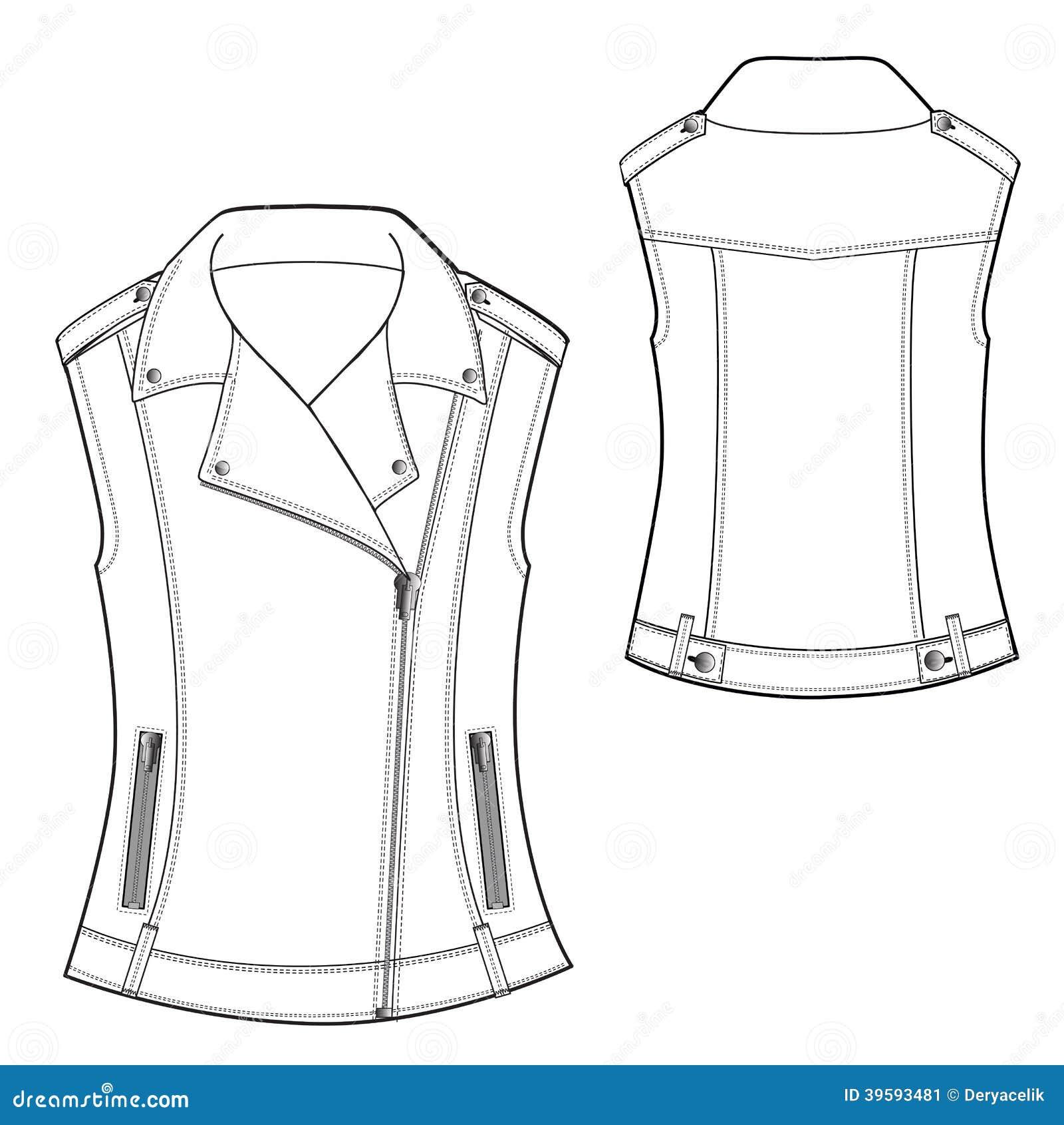 biker waistcoat stock vector image of jeans garment