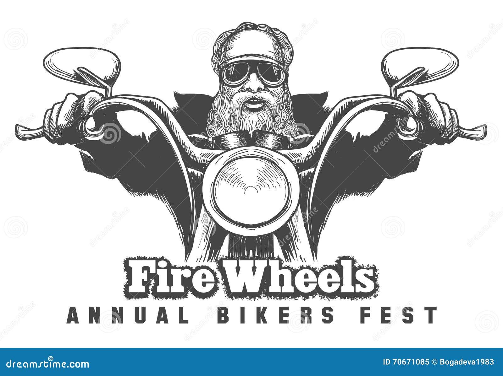 Bikers Festival Emblem Stock Vector Illustration Of Sign