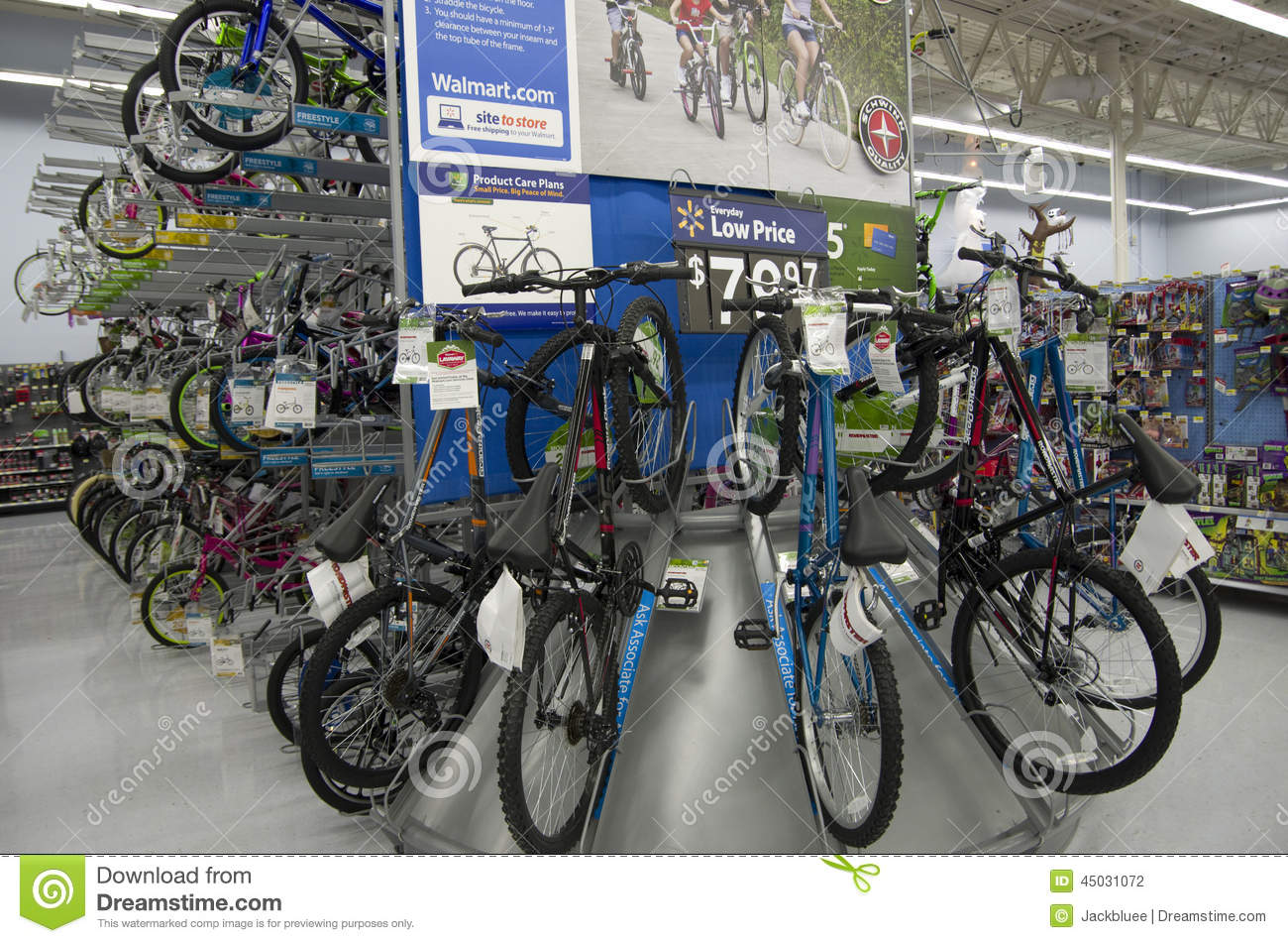 Bikes in Walmart store editorial photography  Image of