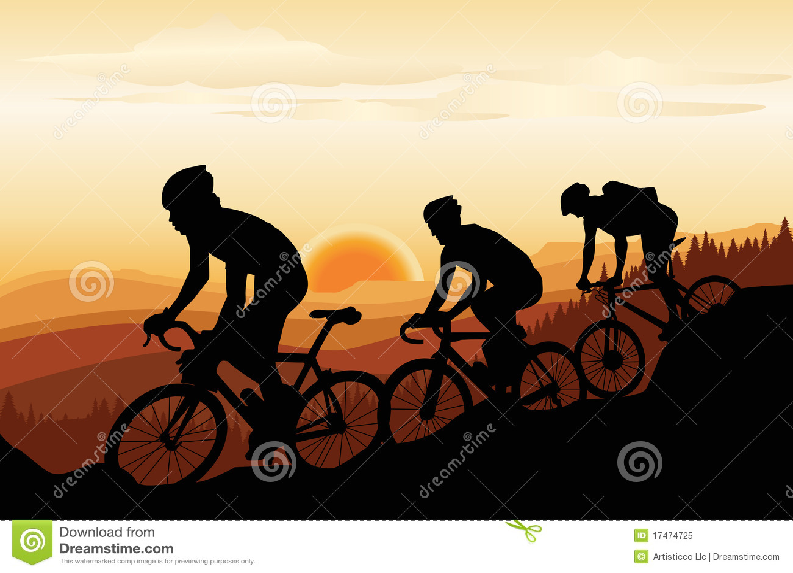 Biking βουνό