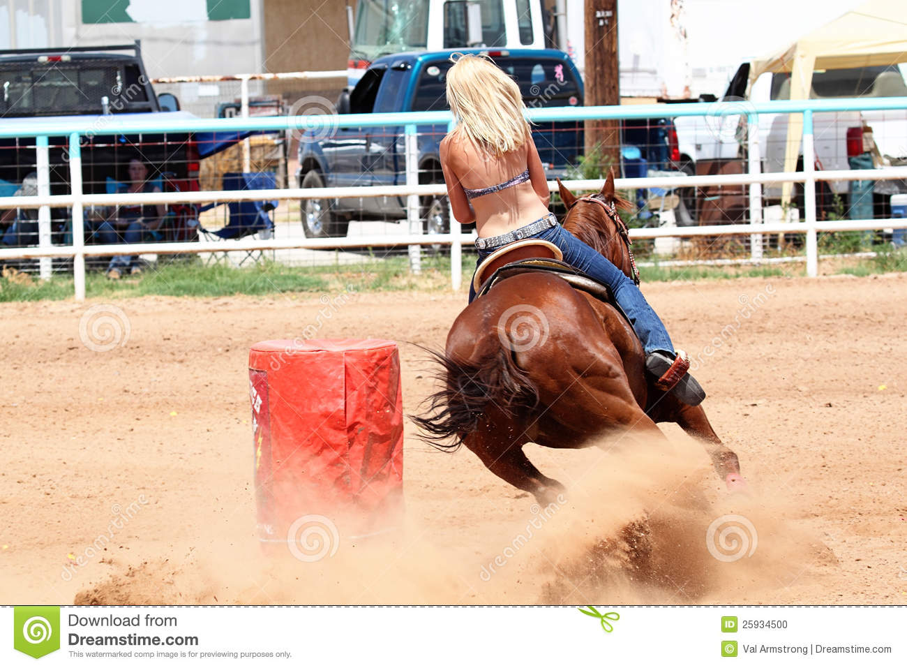Barrel racing girl boobs