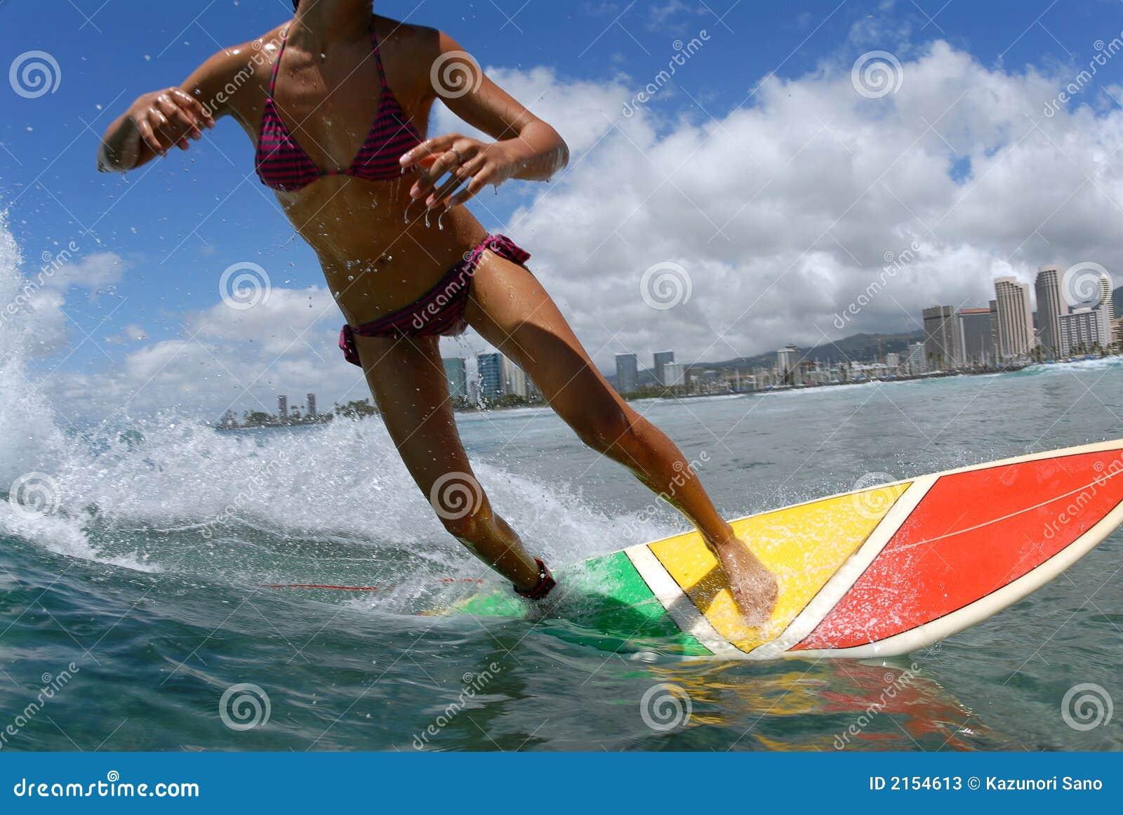 Bikini-Surfer-Mädchen