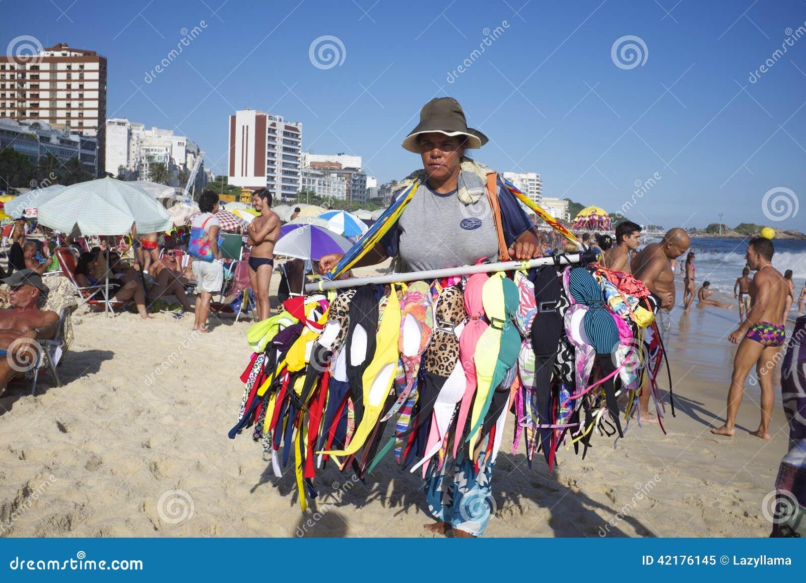 Bikini Vendor Ipanema Beach Rio de Janeiro Brazil