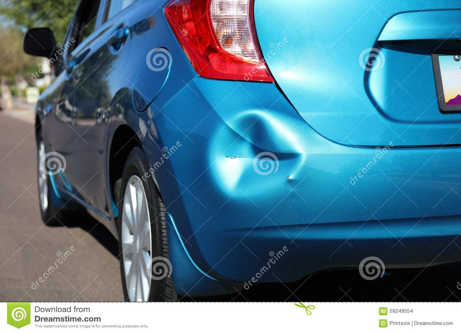 Bil efter en olycka