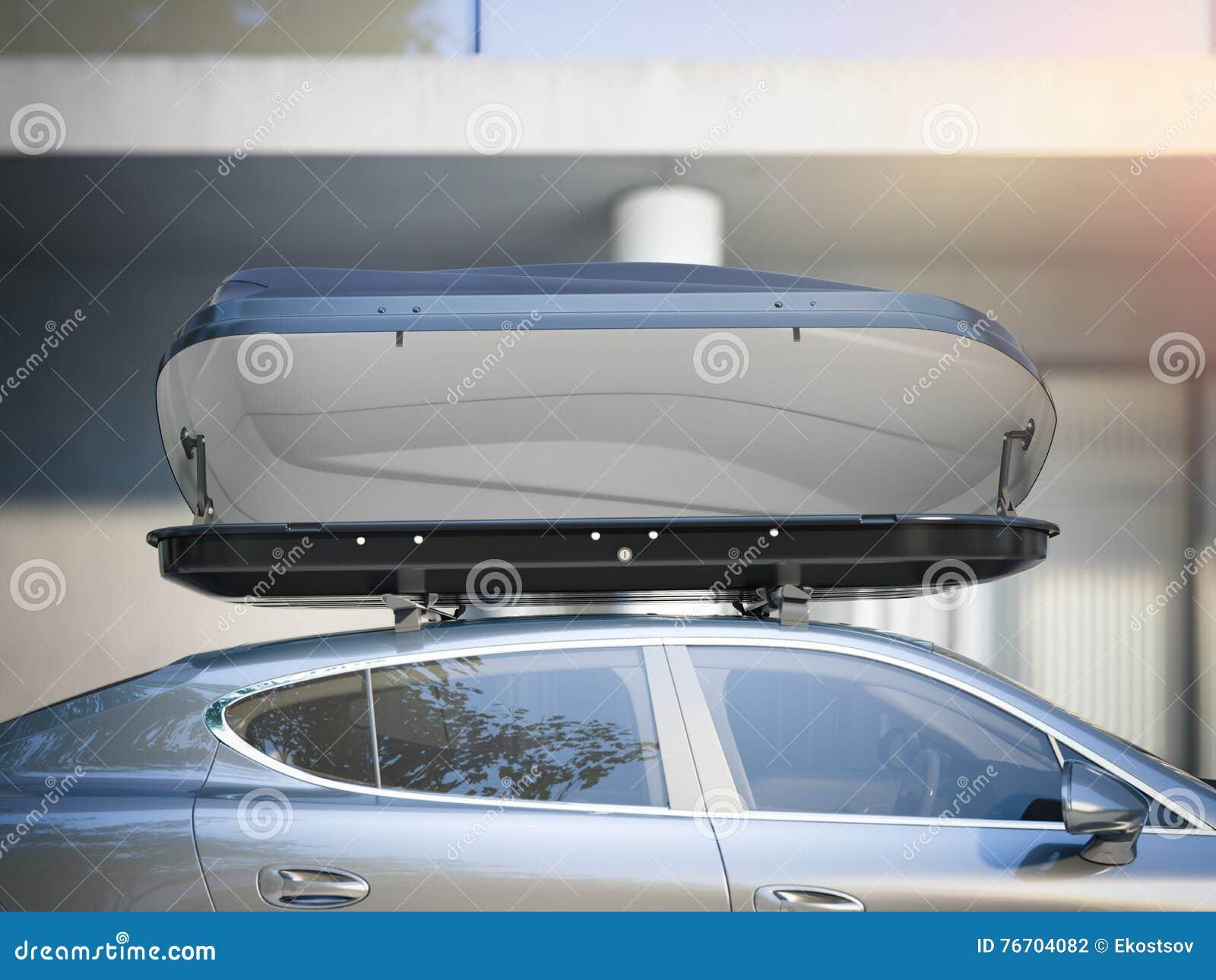Bil för att resa med en takkugge framförande 3d