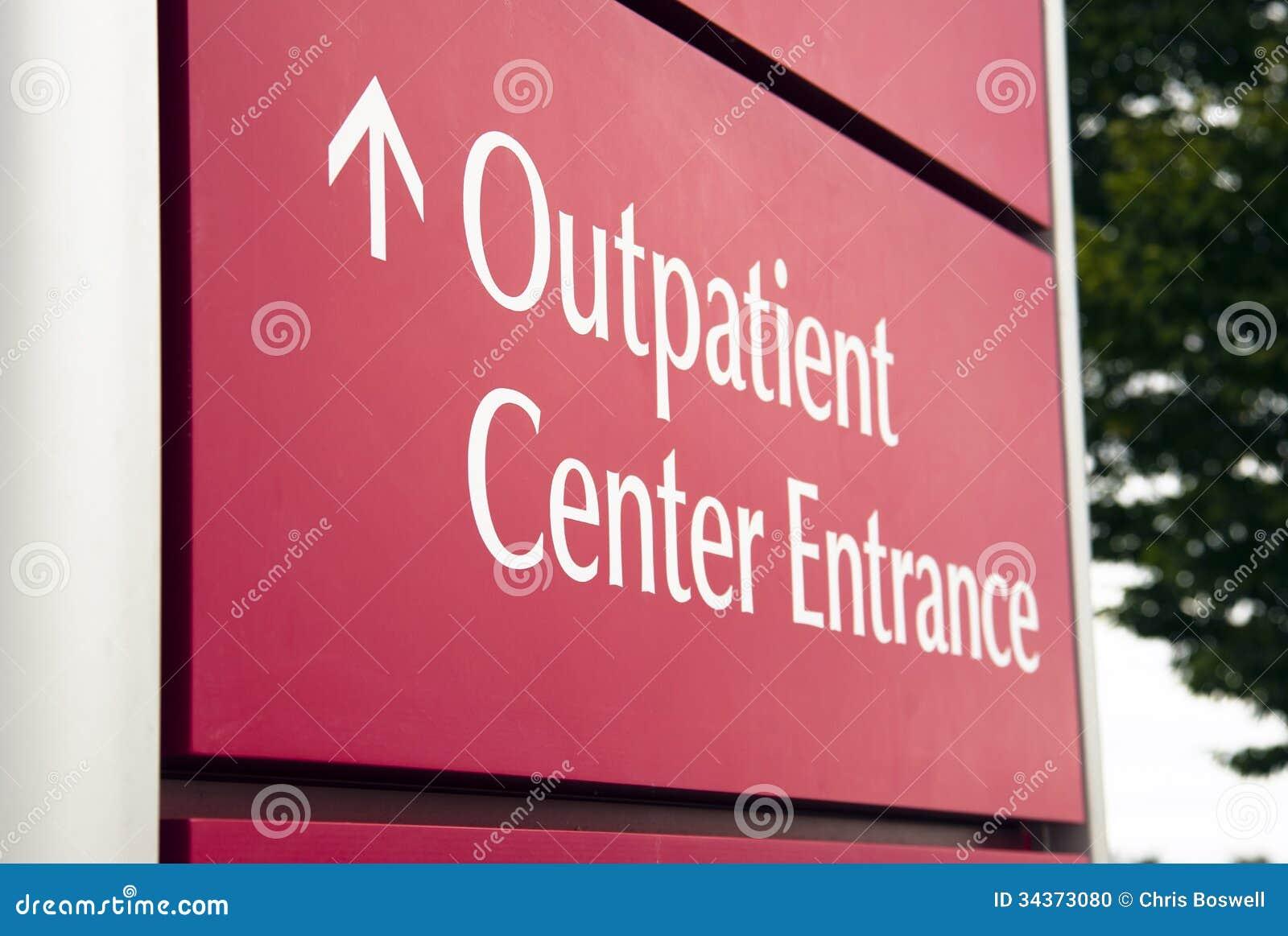 Bil för hälsa för ingång för stor röd sjukhuspoliklinikpatientmitt nöd-