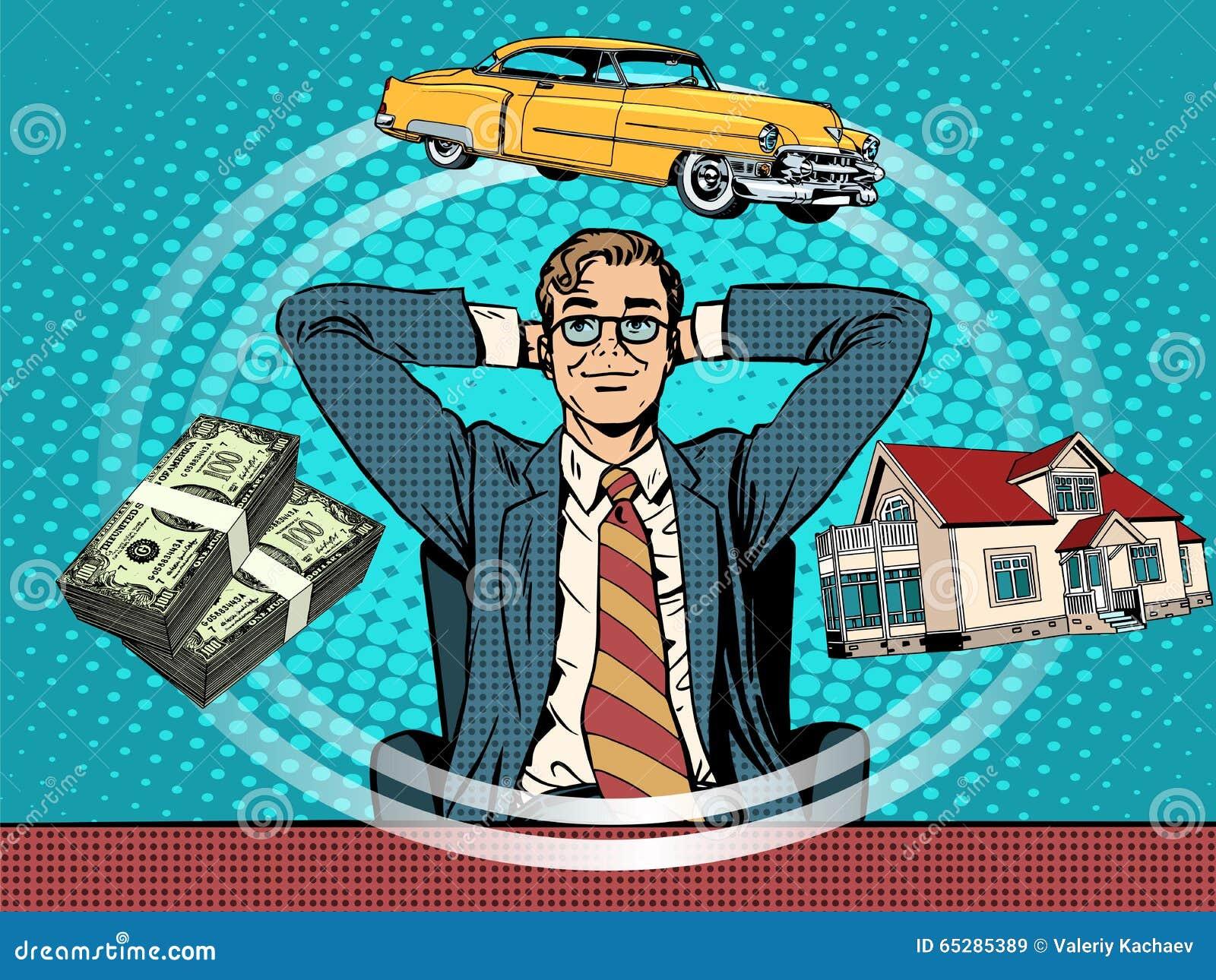 Bil för pengar för dröm- hus för man