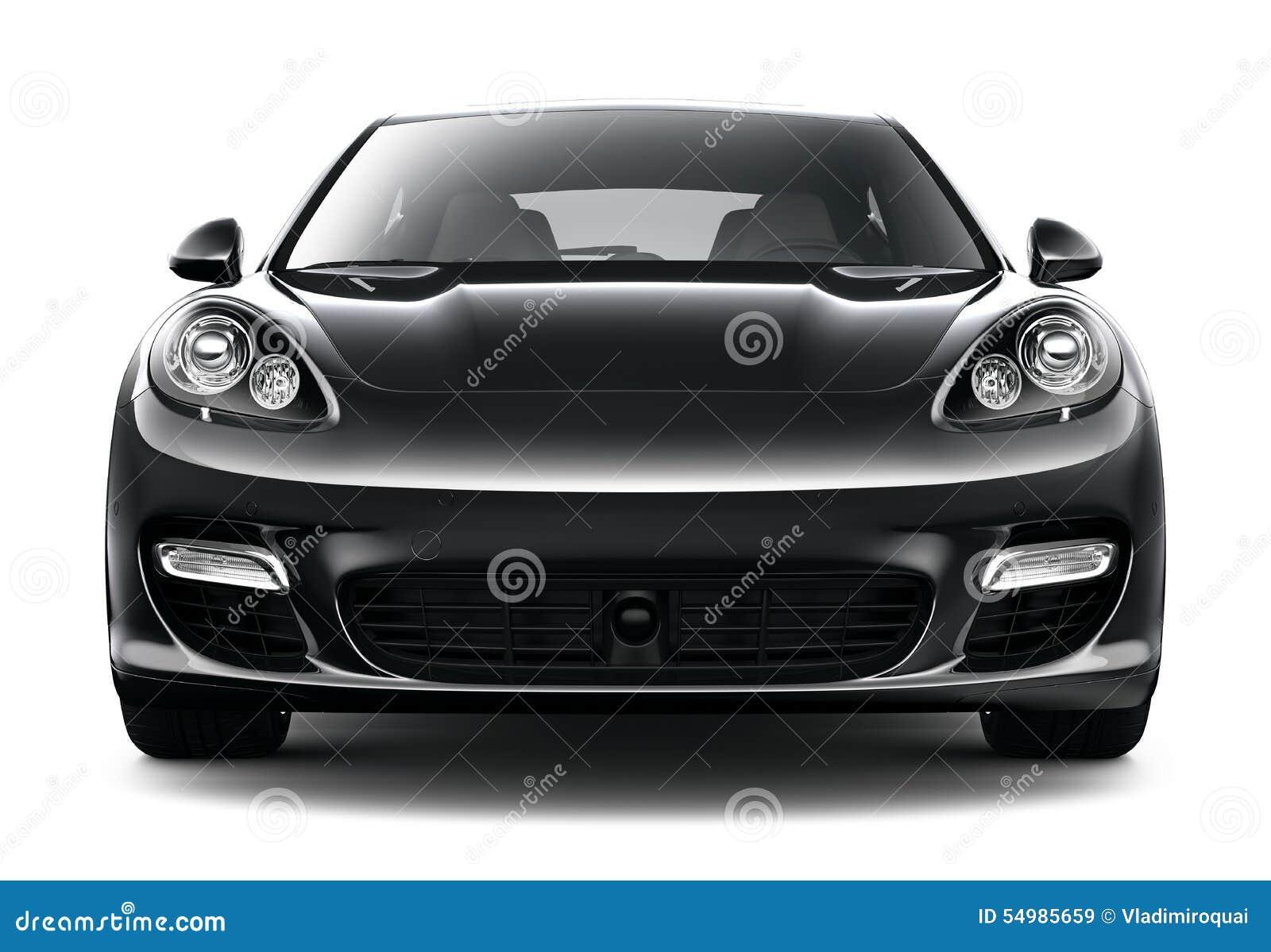 Bil- främre sikt för svart sport