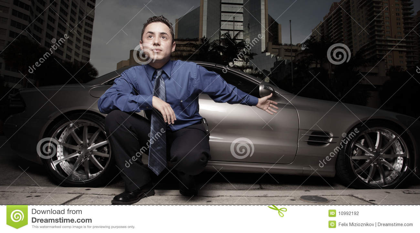 Bil hans lyxiga mansportgata