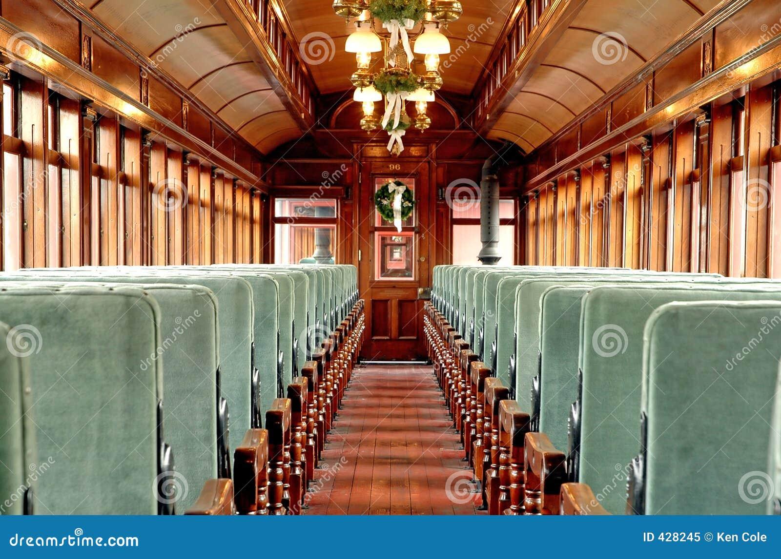 Bil inom den gammala passagerarestången